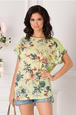 Tricou Marilu verinil cu imprimeu floral