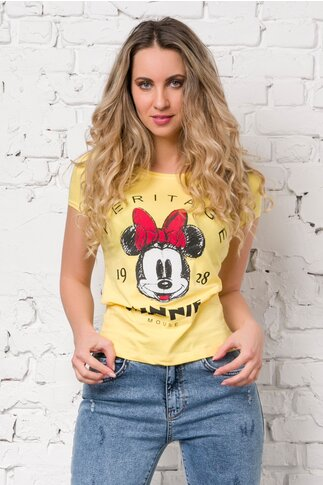 Tricou Minnie Mouse galben