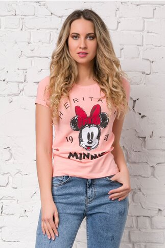 Tricou Minnie Mouse roz