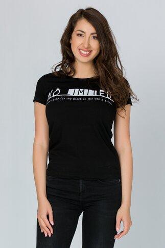 Tricou No Limit negru cu imprimeu text