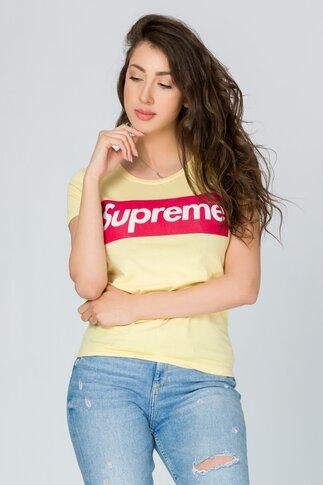 Tricou Supreme galben pal