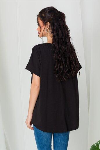 Tricou Tan Girl negru cu paiete