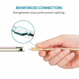 Cablu Micro USB Anker Premium PowerLine+ Nylon 1.8 Metri auriu