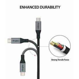 Cablu USB-C - USB-C 3.0 Ringke Premium 1.2 m negru