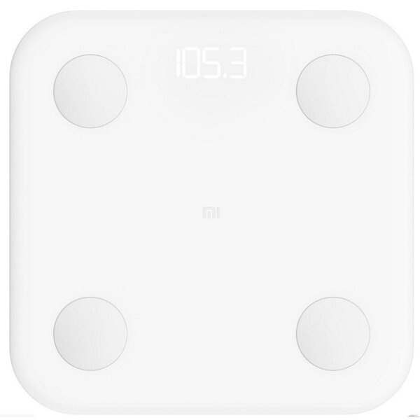 Cantar inteligent Xiaomi Mi Smart Body Fat Scale 2, 150 Kg, BMI, App, Alb