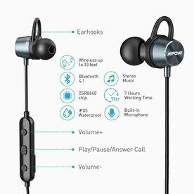 Casti audio wireless Mpow Magnetic Judge negru
