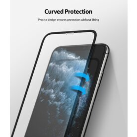 Folie sticla securizata Apple iPhone 11 Pro Max / XS Max Premium Ringke 3D Invisible Screen Defender
