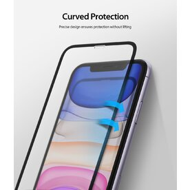 Folie sticla securizata Apple iPhone 11 / XR Premium Ringke 3D Invisible Screen Defender
