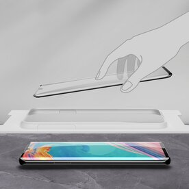 Folie sticla securizata full screen 3D Huawei P30 Pro tempered glass 0,3 mm X Pro+ Benks NEGRU