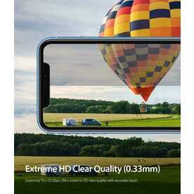 Folie sticla securizata iPhone Xr 9H 0,33 mm Ringke ID Glass (Set 3 bucati, 2+1 GRATIS)