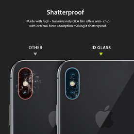 Folie sticla securizata pentru camera iPhone X/Xs/Xs Max tempered glass 9H 0,15 mm Ringke ID Glass (pachet 3 folii)