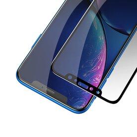 Folie sticla securizata premium full scren 3D privacy iPhone Xr 9H 0,30 mm  Benks V-Pro Negru