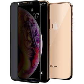 Folie sticla securizata premium full scren 3D privacy iPhone Xs Max 9H 0,30 mm  Benks V-Pro Negru