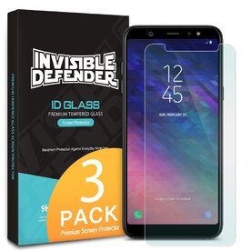 Folie sticla securizata Samsung Galaxy A6 Plus tempered glass 9H 0,33 mm Ringke ID Glass (Set 3 bucati, 2+1 GRATIS)