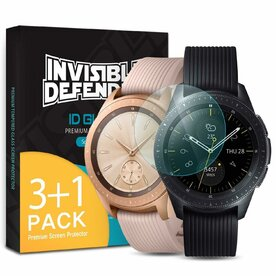 Folie sticla securizata Samsung Galaxy Watch 42mm 9H 0,33 mm Ringke ID Glass (Set 4 bucati, 3+1 GRATIS)