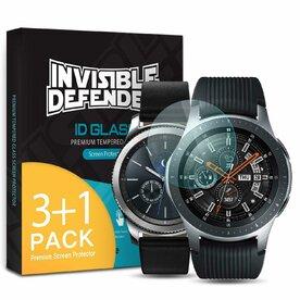 Folie sticla securizata Samsung Galaxy Watch 46mm / Gear S3 9H 0,33 mm Ringke ID Glass (Set 4 bucati, 3+1 GRATIS)