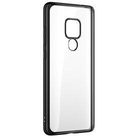 Husa Benks Huawei Mate 20 Magic Glitz Electroplated Transparent/Negru