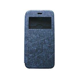 Husa iPhone 6 Plus / 6s Plus Arium Bumper Flip View gri - albastru