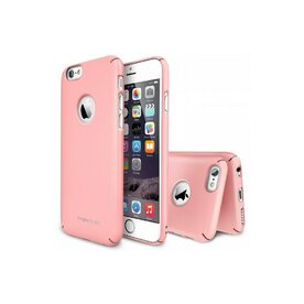 Husa iPhone 6 Ringke SLIM PINK LOGO CUT+BONUS folie protectie display Ringke