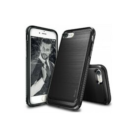 Husa iPhone 7 / iPhone 8 Ringke ONYX BLACK + BONUS folie protectie display Ringke