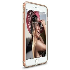 Husa iPhone 7 Plus /  iPhone 8 Plus Ringke AIR ROSE GOLD + BONUS folie protectie display Ringke