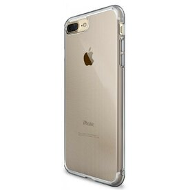 Husa iPhone 7 Plus / iPhone 8 Plus Ringke AIR SMOKE BLACK + BONUS folie protectie display Ringke