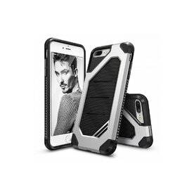 Husa iPhone 7 Plus / iPhone 8 Plus Ringke ARMOR MAX ICE SILVER + BONUS folie protectie display Ringke