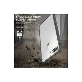 Husa iPhone 7 Plus / iPhone 8 Plus Ringke FUSION ROSE GOLD + BONUS folie protectie display Ringke