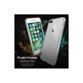 Husa iPhone 7 Plus / iPhone 8 Plus Ringke FUSION SMOKE BLACK + BONUS folie protectie display Ringke