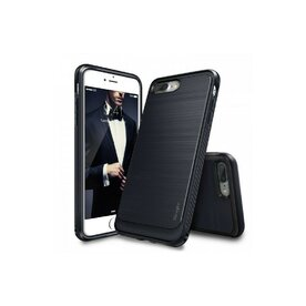 Husa iPhone 7 Plus / iPhone 8 Plus Ringke ONYX MIDNIGHT NAVY + BONUS folie protectie display Ringke