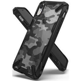 Husa iPhone Xr Ringke FUSION X Design Negru Camuflaj