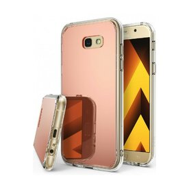 Husa Samsung Galaxy A7 2017 Ringke MIRROR ROSE GOLD + BONUS folie protectie display Ringke
