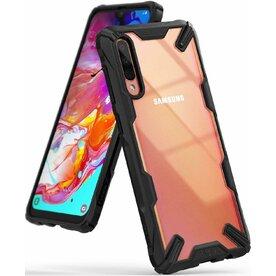 Husa Samsung Galaxy A70 Ringke FUSION X Transparent/Negru