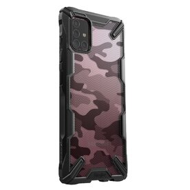 Husa Samsung Galaxy A71 Ringke FUSION X Design Negru Camuflaj