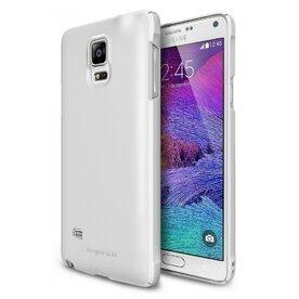 Husa Samsung Galaxy Note 4 Ringke SLIM WHITE + BONUS folie protectie display Ringke
