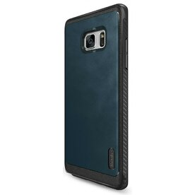 Husa Samsung Galaxy Note 7 Fan Edition Ringke Flex S DEEP BLUE + Bonus folie protectie Ringke Invisible Screen Defender