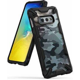 Husa Samsung Galaxy S10e Ringke FUSION X Design Negru Camuflaj