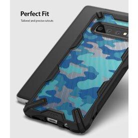 Husa Samsung Galaxy S10 Plus Ringke FUSION X Albastru Camuflaj