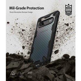 Husa Samsung Galaxy S10 Plus Ringke FUSION X Design Carbon Fiber Negru