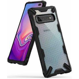 Husa Samsung Galaxy S10 Plus Ringke FUSION X Design Hexagon Black
