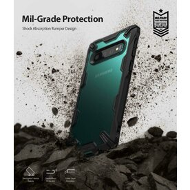Husa Samsung Galaxy S10 Ringke FUSION X Transparent/Negru