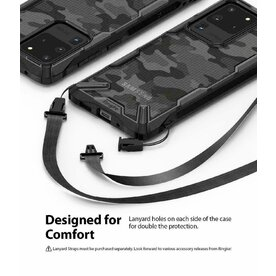 Husa Samsung Galaxy S20 Ultra Ringke FUSION X Design Negru Camuflaj