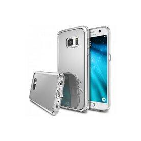 Husa Samsung Galaxy S6 Ringke MIRROR SILVER + BONUS folie protectie display Ringke