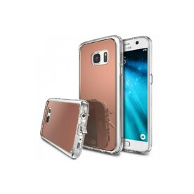 Husa Samsung Galaxy S7 Ringke MIRROR ROSE GOLD + BONUS folie protectie display Ringke