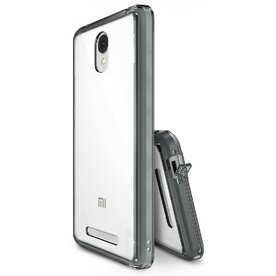Husa Xiaomi Redmi Note 2 Ringke FUSION SMOKE BLACK + BONUS folie protectie display