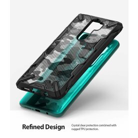 Husa Xiaomi Redmi Note 8 Pro Ringke FUSION X Design Negru Camuflaj