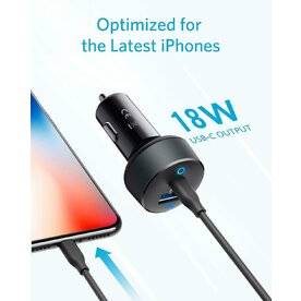 Incarcator auto 30W Anker PowerDrive PD 2 cu port USB-C si USB