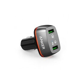 Incarcator auto 42W Anker PowerDrive+ 2 Qualcomm Quick Charge 3.0 negru