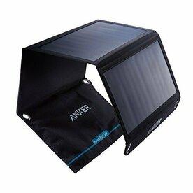 Incarcator solar pliabil Anker PowerPort Dual 21W negru