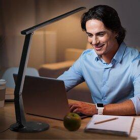 Lampa de birou cu LED TaoTronics TT-DL10, control touch, 15W, A+, Negru